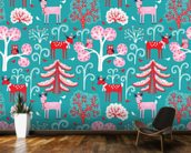 Happy in Winter wall mural kitchen preview