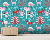 Happy in Winter wall mural living room preview