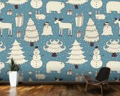 All About Christmas mural wallpaper kitchen preview