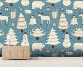 All About Christmas mural wallpaper living room preview