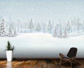 Snowy Winter Landscape wall mural kitchen preview