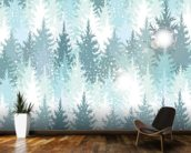 Winter Forest wall mural kitchen preview
