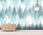 Winter Forest wall mural living room preview