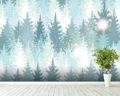 Winter Forest wall mural in-room view
