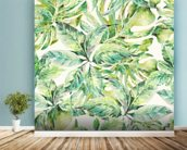 Exotic Summer Leaves wall mural in-room view