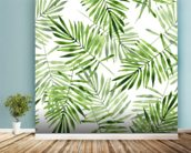 Green Palms mural wallpaper in-room view