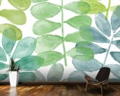 Sunshine Leaves Watercolour wall mural kitchen preview