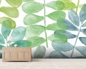 Sunshine Leaves Watercolour wall mural living room preview