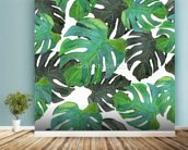 Tropical Palms mural wallpaper in-room view