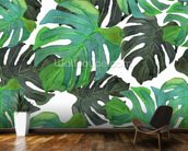 Tropical Palms mural wallpaper kitchen preview