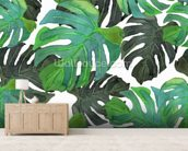 Tropical Palms mural wallpaper living room preview