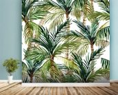 Watercolor Palms wall mural in-room view