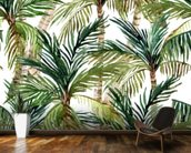 Watercolor Palms wall mural kitchen preview