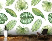 Tropical Leaves mural wallpaper kitchen preview