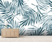 Palm Leaf Watercolour mural wallpaper living room preview