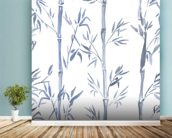 Bamboo Leaves Watercolour wall mural in-room view