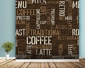 Abstract Coffee mural wallpaper in-room view