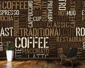 Abstract Coffee mural wallpaper kitchen preview
