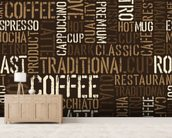 Abstract Coffee mural wallpaper living room preview