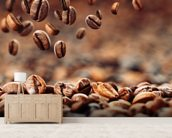 Coffee Beans mural wallpaper living room preview