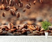 Coffee Beans mural wallpaper in-room view