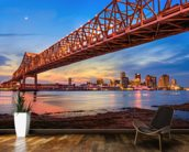 Bridge Over the Mississippi River mural wallpaper kitchen preview