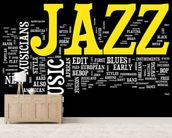 New Orleans Jazz mural wallpaper living room preview