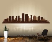 New Orleans Abstract Skyline mural wallpaper kitchen preview