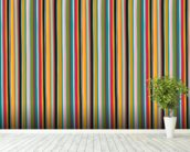 Coloured Lines wallpaper mural in-room view