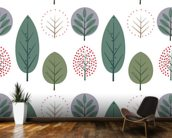 Scandi Leaf Style wall mural kitchen preview