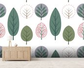 Scandi Leaf Style wall mural living room preview