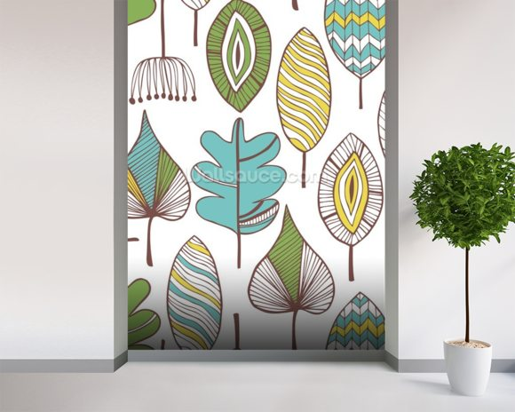 Leaf Chic wallpaper mural room setting
