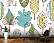 Leaf Chic wallpaper mural kitchen preview