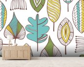 Leaf Chic wallpaper mural living room preview