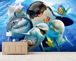 Ocean Selfie Wallpaper Wall Murals