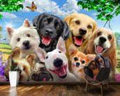 Dogs Selfie wallpaper mural kitchen preview