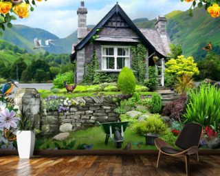 Lakeland Cottage Wallpaper Mural Wall Murals Wallpaper