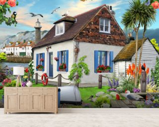 Fishermans Cottage Mural Wallpaper Wall Murals Wallpaper