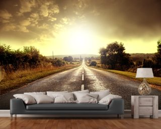Country Road mural wallpaper