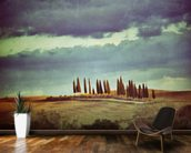Vintage Tuscan Landscape mural wallpaper kitchen preview