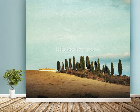 Tuscany Rural Landscape wall mural room setting
