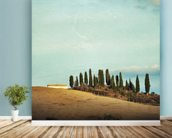 Tuscany Rural Landscape wall mural in-room view
