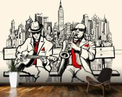 New York Jazz mural wallpaper kitchen preview