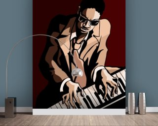 Jazz Pianist wall mural