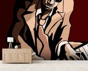 Jazz Pianist wall mural living room preview
