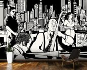 New York Jazz Band wallpaper mural kitchen preview