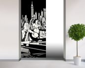 New York Jazz Band wallpaper mural in-room view