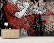 Jazz Trumpet wallpaper mural living room preview