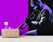 Blues Musician mural wallpaper living room preview