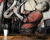 Street Saxophone Player wall mural kitchen preview